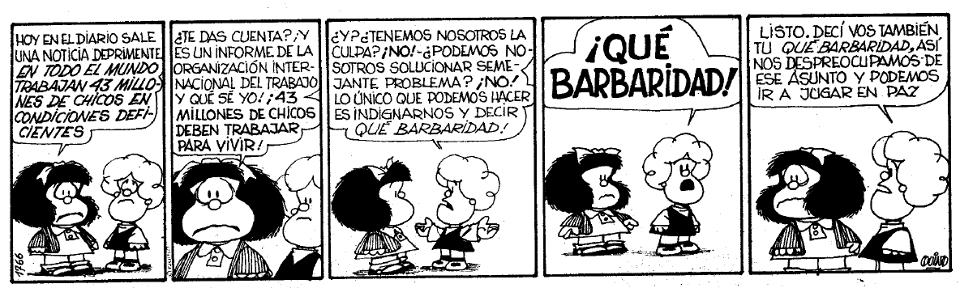 Mafalda – ¡Québarbaridad!