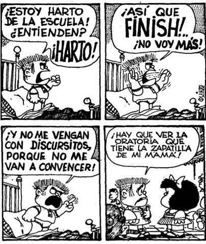 Mafalda – La oratoria de la zapatilla demamá
