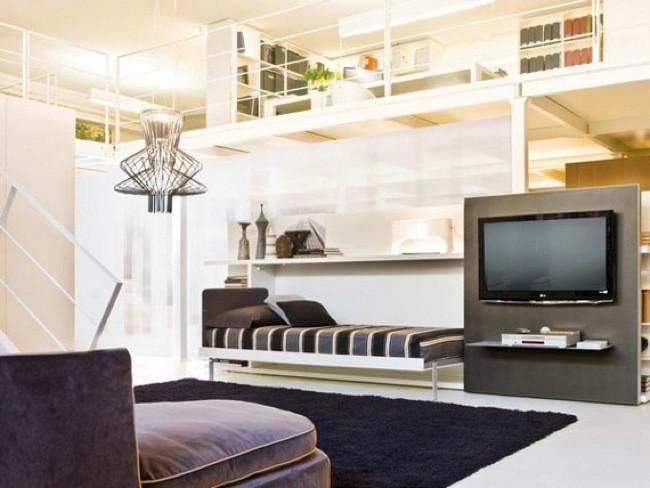Camas secretas ocultas en muebles con paneles giratorios y deslizantes