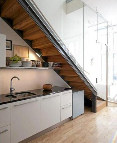 Cinco buenas ideas para aprovechar el hueco bajo la escalera for Aseo bajo escalera